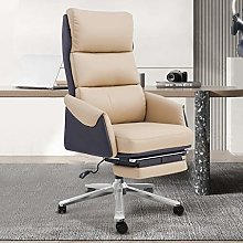 Aoyo Household Leather Boss Chair, Reclining