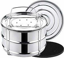 Aozita 3 Quart Stackable Steamer Insert Pans -