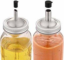 Aozita Mason Jar lids Pour Spout with Caps for