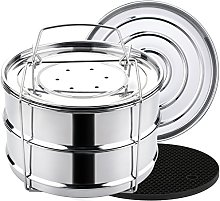 Aozita Stackable Stainless Steel Steamer Insert