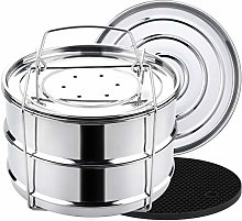 Aozita Stackable Steamer Insert Pans with Sling