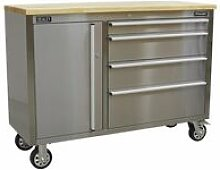 AP4804SS Mobile Stainless Steel Tool Cabinet 4