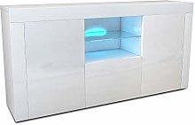 Apelila High Gloss & Matt Sideboard Cabinet, TV