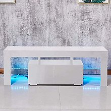 Apelila TV Stand Cabinet, LED TV Unit Modern TV