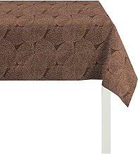 Apelt Tablecloth, Polyester, Braun/Gold, 100 x 100