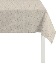 Apelt Tablecloth, Polyester, Gold/Creme, 84 x 84 x