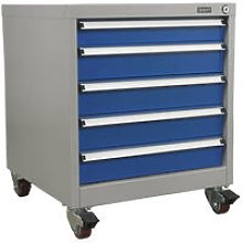 API5657A 5 Drawer Mobile Industrial Cabinet -