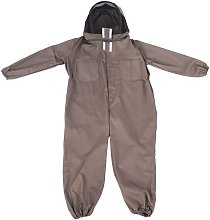 APICOLE COSTUME PROTECTIVE EQUIPMENT WITH PROFESSIONAL SOIL ANTIE JUMPSUTE Hooded Total Protection Clothing Long Sleeve Cotton Beekeeper Coffee Beeper (XL)
