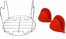 APIKA High Quality Steamer Rack Trivet Set, a
