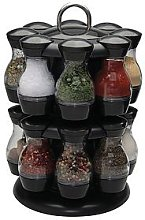 Apollo 16-Jar 2-Tier Plastic Spice Carousel