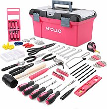 Apollo 170 Piece Pink Complete Household Tool Kit