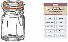 Apollo Clip Sealed Spice Jars, Set of 12 &
