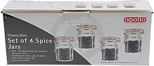Apollo Clipseal Spice Jars - Pack of 4