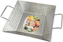 APOLLO Deep Grill Pan, Brushed Steel, Silver, 41 x