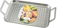 Apollo Grill Tray, Brushed Steel, Silver, 22 x 4.5