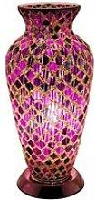 Apollo Mosaic Glass Vase Table Lamp In Purple Tile