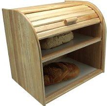 Apollo Rubber Wood Bread Bin Double Decker, Bread