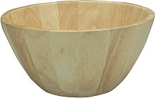 Apollo Rubberwood Salad/Fruit Bowl, Natural Wood,