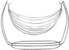 Apollo Swing Fruit Basket, Chrome, Silver, 31x17x23
