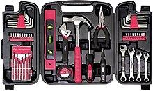 Apollo Tools DT9408P Household Tool Kit, Pink, One