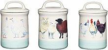 Apple Farm Tea Coffee Sugar Canister Storage Jar