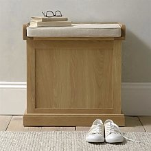 Appleby Oak Small Shoe Storage Trunk Bench