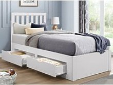 Appleby White Wooden 4 Drawer Storage Bed Frame -