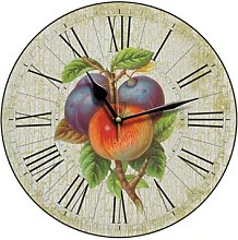 Apples and Plums Country Kitchen Wall Clock