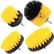 apply 4 Pcs Drill Brushes set, Scrubbing Brush