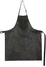 Apron - Barbecue / Leather by Dutchdeluxes Grey