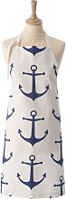 Apron - Blue And White Anchor