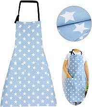 Apron with Bag Adjustable Cooking Apron Kitchen