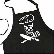 ApronMen BBQ Grill Apron - Pirate Cook Skull Chef