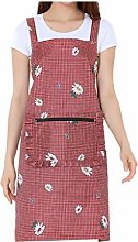 Aprons Apron 2 Pockets with Zipper Apron for Women