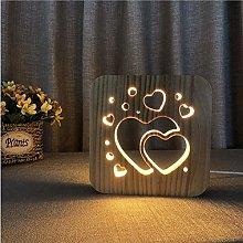 APXZC Creative 3D Love in Love Desk Lamp