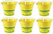 AQS Chatsworth Citronella Metal Bucket Candle
