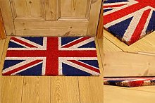 AQS INTERNATIONAL Union Jack Coir Doormat Rubber