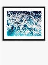 Aqua 1 - Framed Print & Mount, 66 x 86cm, Blue