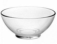 Aqua Clear Glass Grand Fruit Salad Bowl Serving