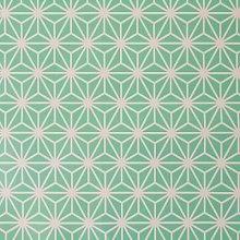 Aqua Geometric Cube PVC Vinyl Oilcloth Wipe Clean
