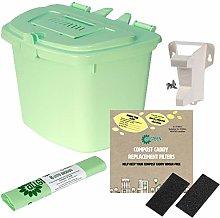 Aqua (Green/Blue) 7L Kitchen Compost Caddy Food