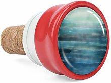 Aqua Teal Blue Sea Ocean Ombre Watercolor Wine