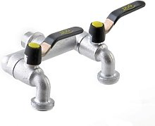 Aquajet 464 B New Twin Garden Faucet in Blister,