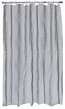 Aqualona Bubbles Grey Soft Peva Shower Curtain