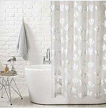 AQUALONA Ginko Flower Shower Curtain, vinyl, 180 x
