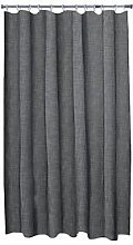 Aqualona Grey Slub Shower Curtain