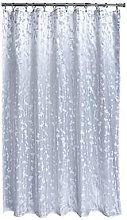 Aqualona Metallic Leaf Soft Peva Shower Curtain