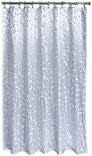 Aqualona Metallic Leaf Soft Peva Shower Curtain