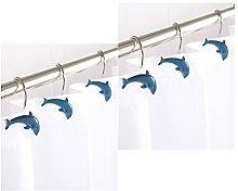 AQUALONA Mr.Caller Dolphin Shower Curtain Hooks