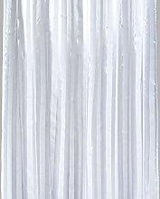AQUALONA Oxford White Shower Curtain 180x180cm